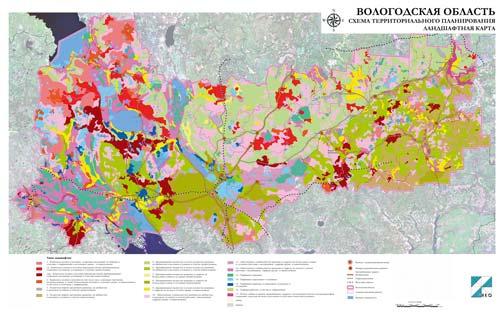 Ландшафтная карта Вологодской