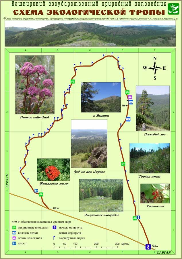 Схема экологической тропы
